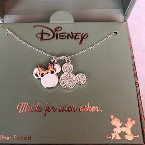 Fine silver plated Mickey necklace